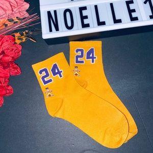 Kobe number 24 mid calf socks
